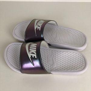 6b0948641adf Nike Shoes - Nike Iridescent slides sandals size 10